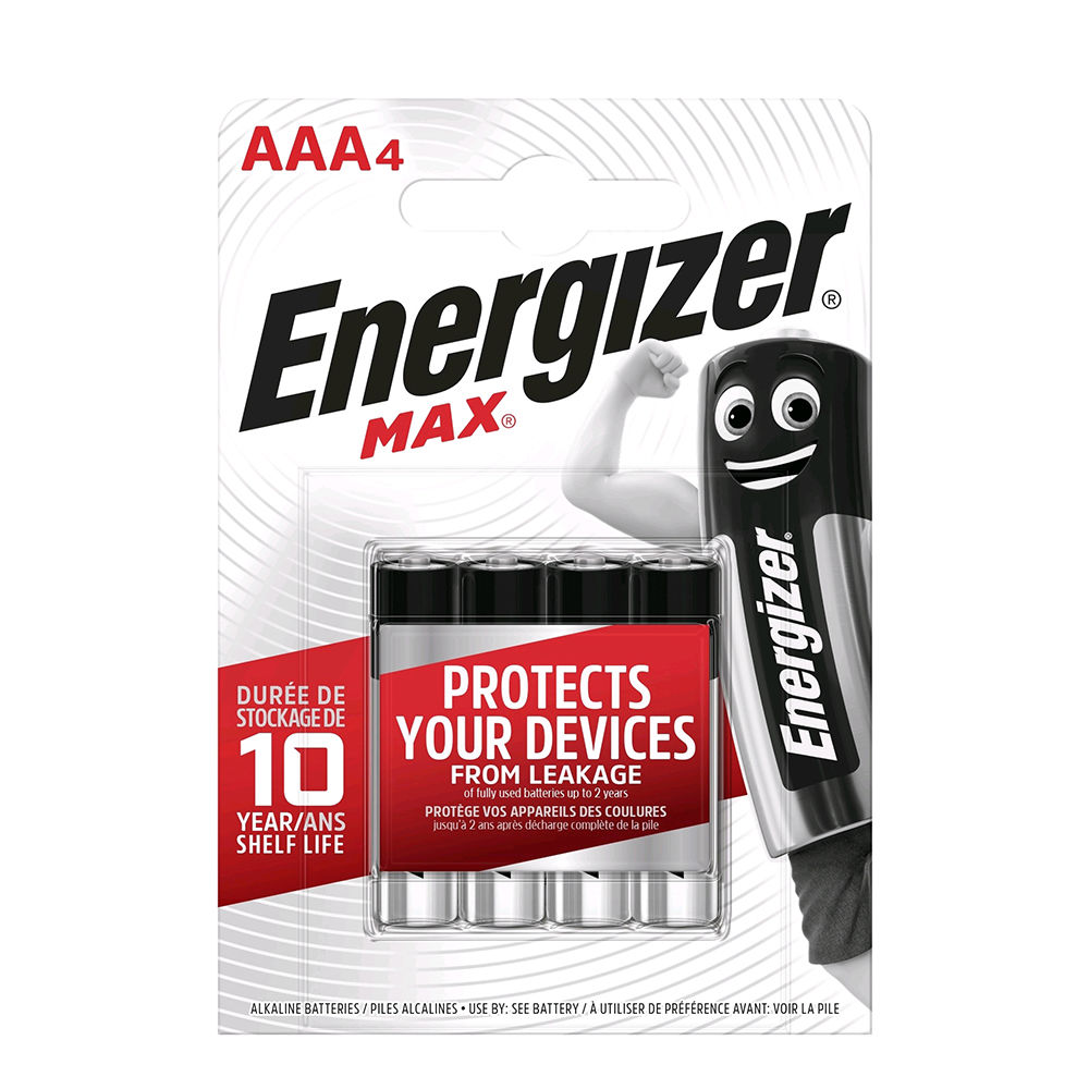Energizer Max Alkáli Mikro Elem AAA B4