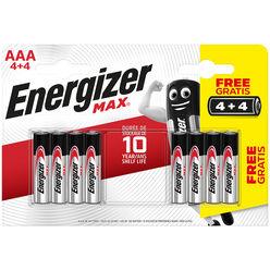 Energizer Max Alkáli Mikro Elem AAA B4+4