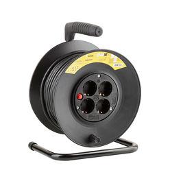 Technik Kábeldob 4-er 25m 1,5mm2 (fekete) 16A