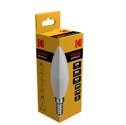 KODAK Max LED Izzó Candle C37 5W E14 270° 2700K (450 lumen)