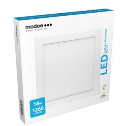 Modee Lighting LED Panel Négyzet - Felszerelhető 18W 2700K (1260 lumen)
