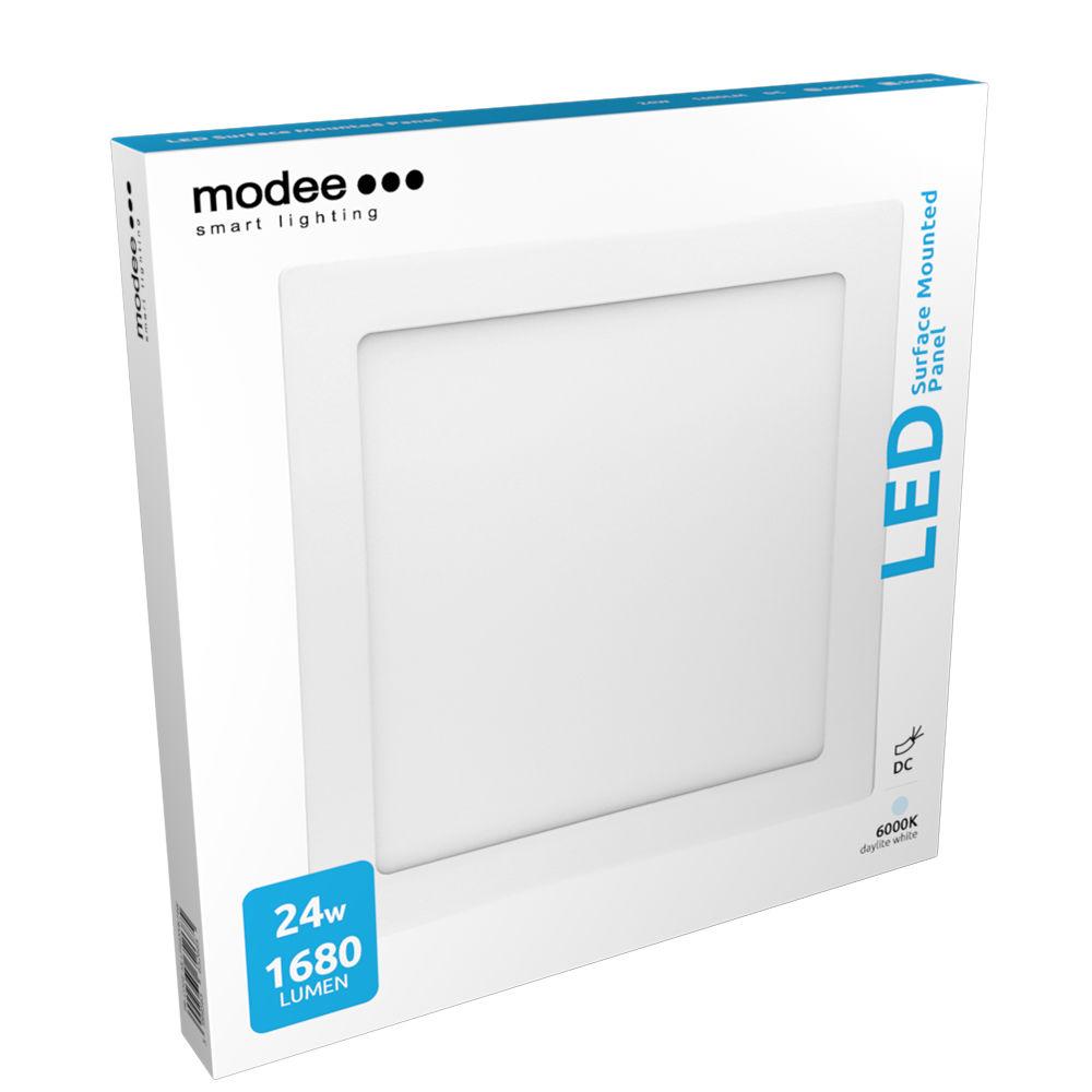 Modee Lighting LED Panel Négyzet - Felszerelhető 24W 6000K (1680 lumen)