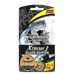 Wilkinson Xtreme 3 Sensitive Eldobható Borotva férfi Black Edition B3+1