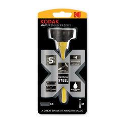 Kodak Borotva Készülék MAX Premium 5 pengés gumírozott  + 4 pótfej