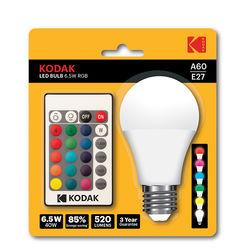 KODAK LED Izzó Globe A60 6W E27 270° RGB (520 lumen)