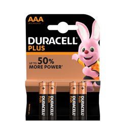 Duracell Plus Power Alkáli Mikro Elem AAA (1,5V) B4