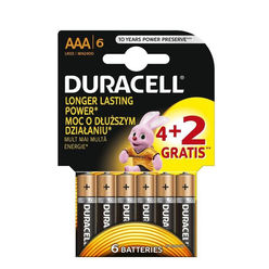 Duracell Basic Alkáli Mikro Elem AAA (MN2400) (1,5V) B4+2
