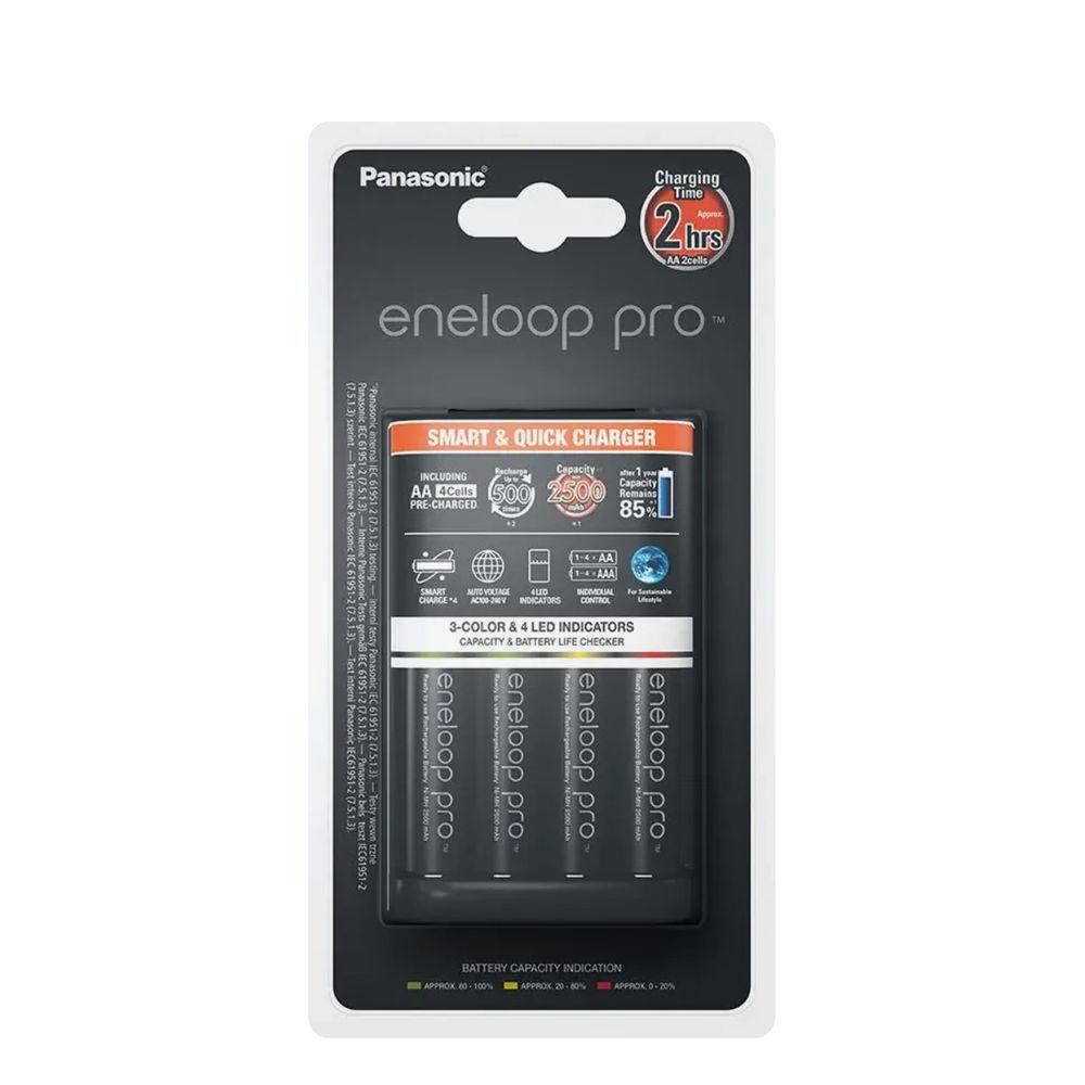 Panasonic Eneloop Pro Akkutöltő (gyorstöltő) + 4db 2500mAh AA (120min)