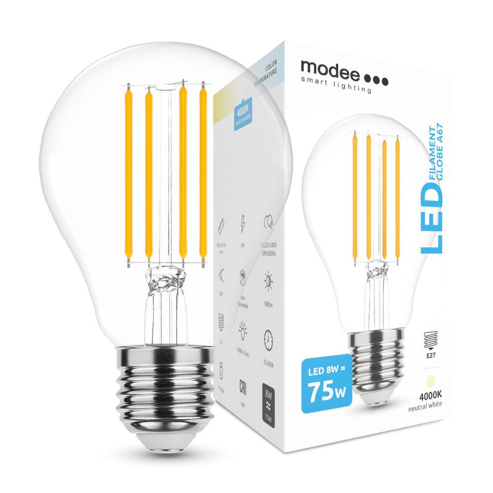 Modee Lighting LED Izzó Filament A67 8W E27 360° 4000K (980 lumen)