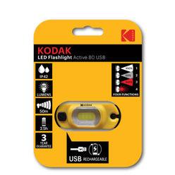 Kodak Fejlámpa 1W LED Active 80 (akkumulátoros) + USB (80 lumen) B1