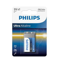 Philips Ultra Alkáli 9V Elem B1