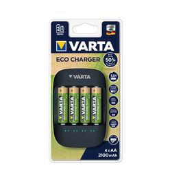 VARTA Akkutöltő ECO + 4x2100mAh R2U AA (AA/AAA)