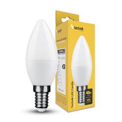 Technik LED Izzó Gyertya (Candle) C37 6W E14 270° 6000K (490 lumen)