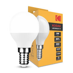 KODAK Max LED Izzó Globe Mini G45 3W E14 270° 2700K (250 lumen)