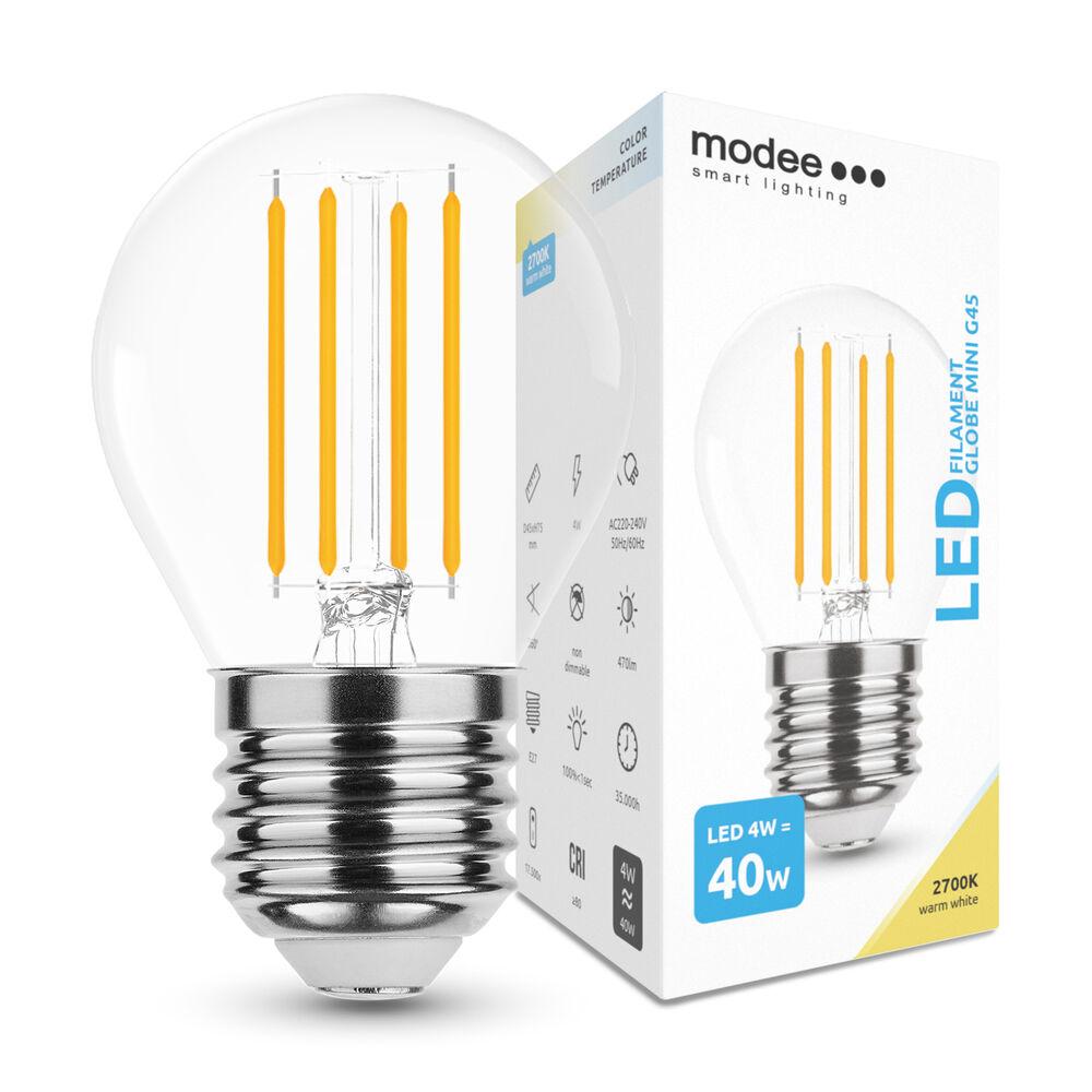 Modee Lighting LED Izzó Filament G.Mini G45 4W E27 360° 2700K (430 lumen)