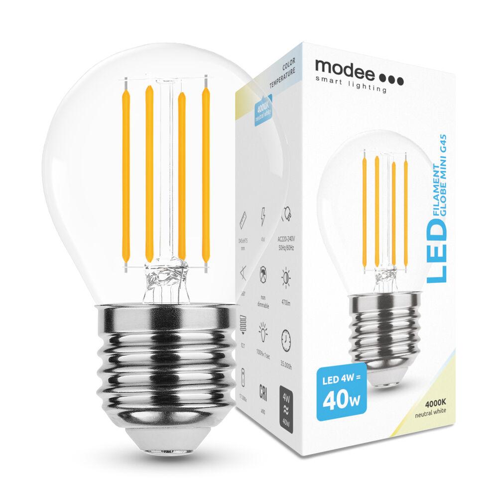 Modee Lighting LED Izzó Filament G.Mini G45 4W E27 360° 4000K (430 lumen)
