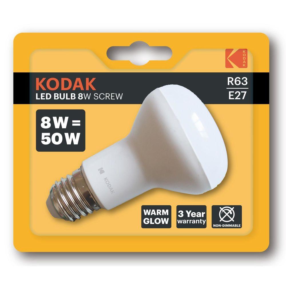 Kodak LED Izzó Spot R63 8W E27 110° 2700K (640 lumen)