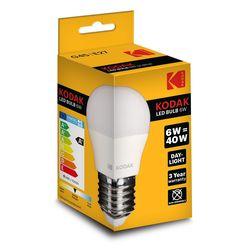 Kodak LED Izzó Globe Mini G45 6W E27 180° 6000K (480 lumen)