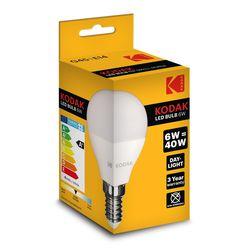 Kodak LED Izzó Globe Mini G45 6W E14 180° 4000K (480 lumen)