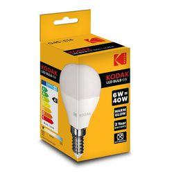 Kodak LED Izzó Globe Mini G45 6W E14 180° 2700K (480 lumen)