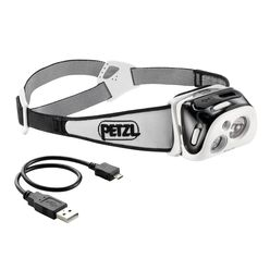Petzl Fejlámpa REACTIK Black (akkumulátoros - tartozék) (220 lumen)