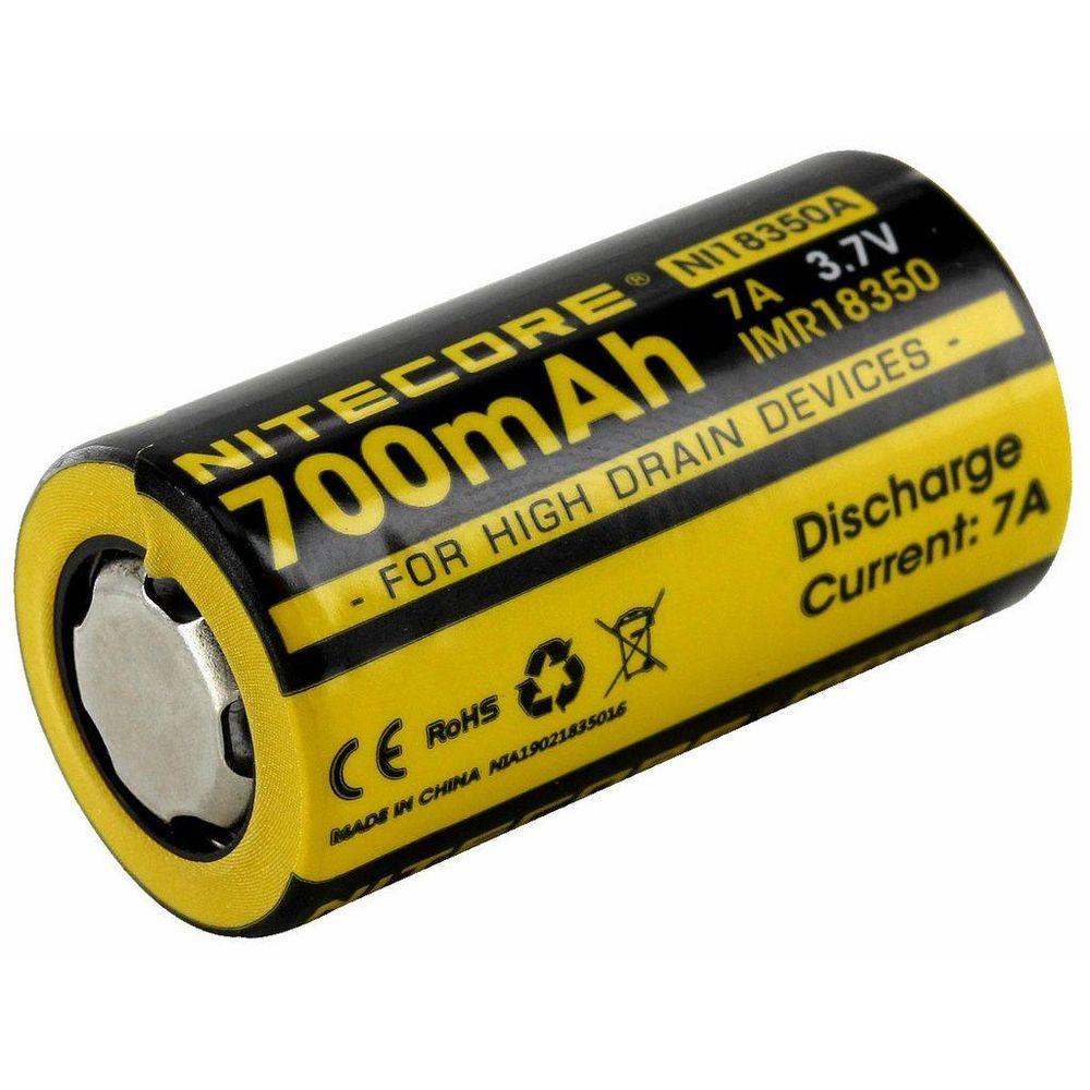 Nitecore Kellék Akkumulátor 18350 IMR 700mAh 3,7V