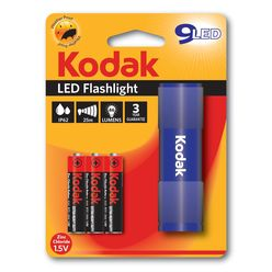 Kodak Elemlámpa 9 x LED (+3AAA) kék