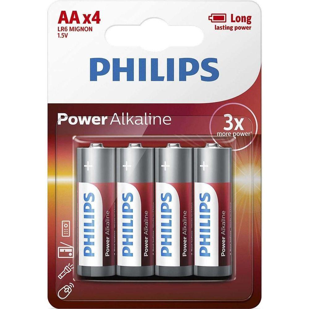 Philips Power Alkáli Ceruza Elem AA B4