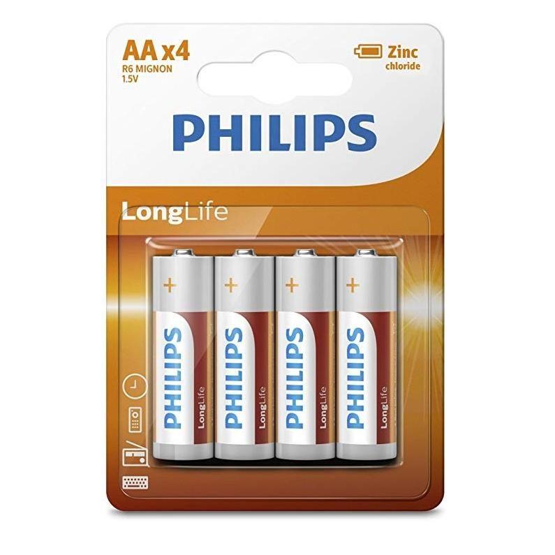 Philips Longlife Féltartós Ceruza Elem AA B4