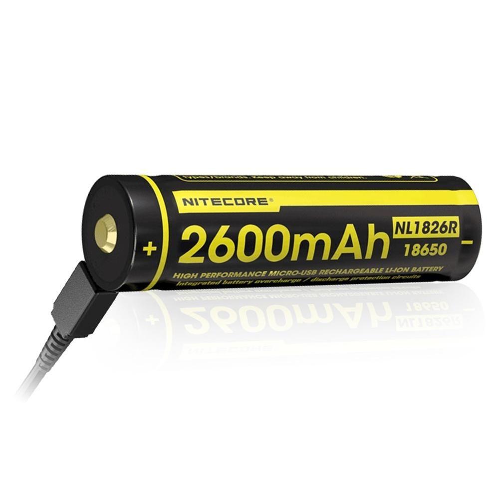 Nitecore Kellék Akkumulátor 18650 NL1826R USB-s 2600mAh 2A 3,6V B1