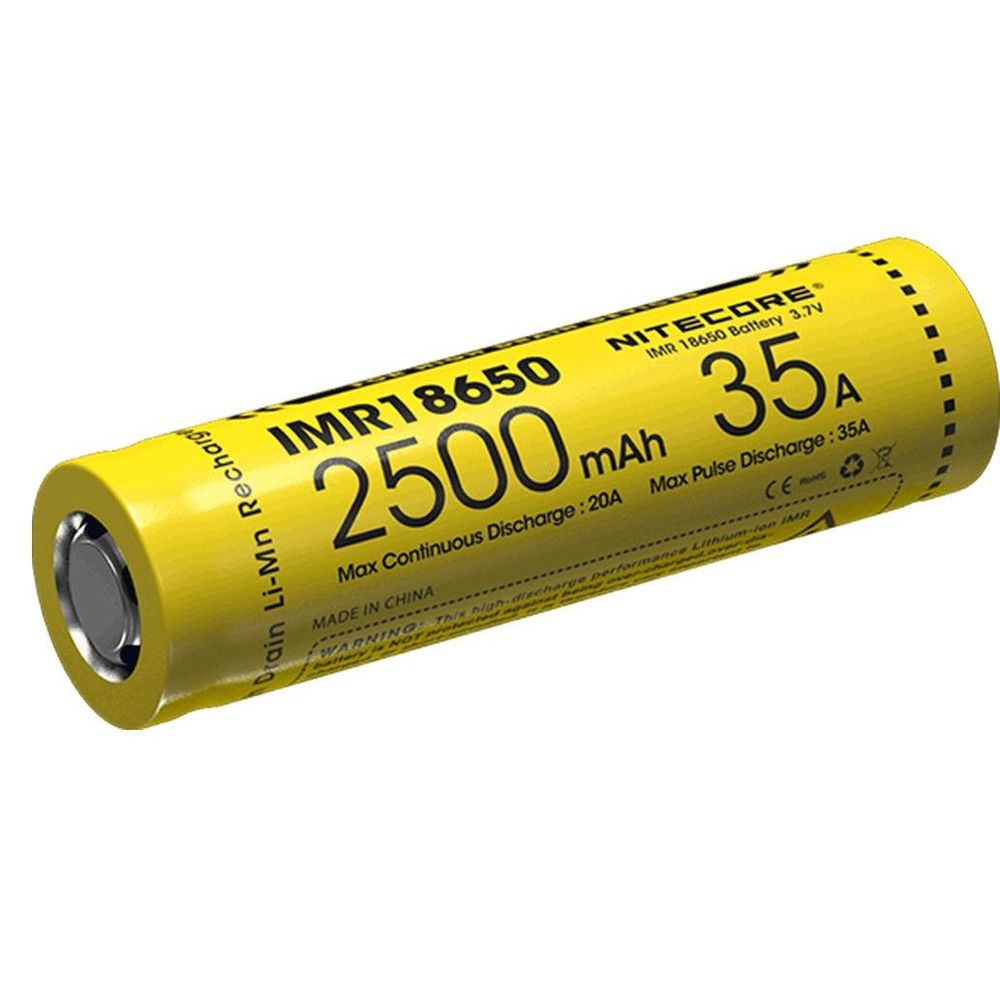 Nitecore Kellék Akkumulátor 18650 IMR 2500mAh/35A