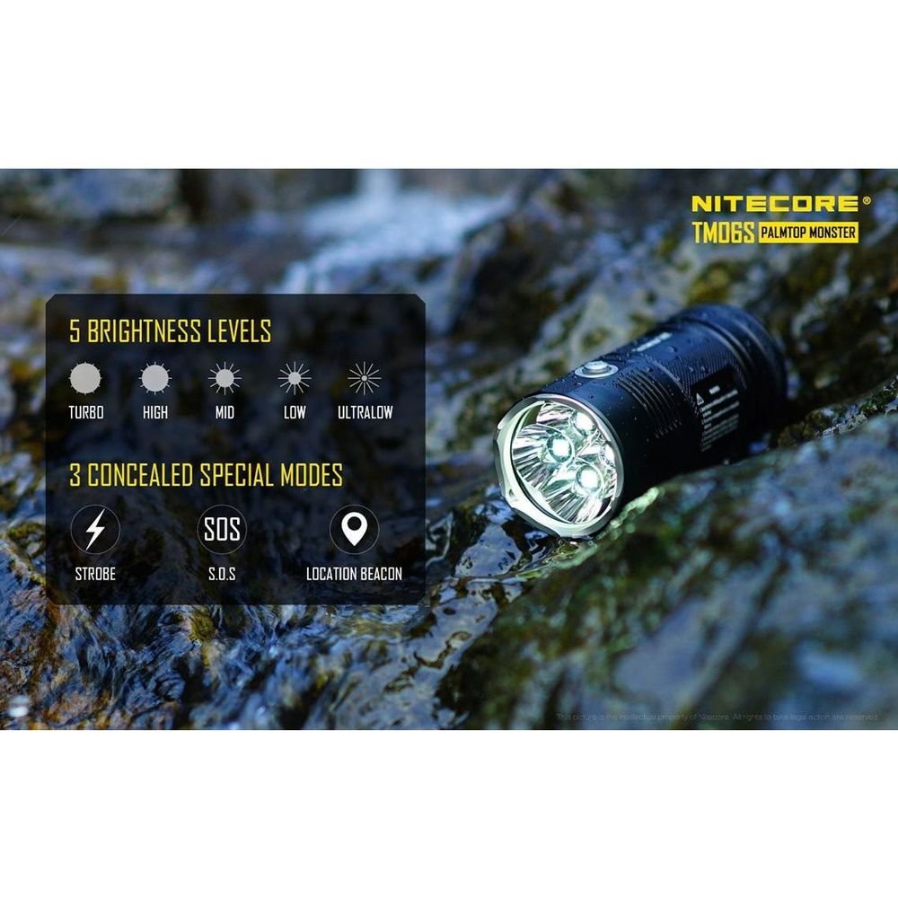 Nitecore Elemlámpa TM06S (4x18650) CREE XM-L2 U3 (4000 lumen)