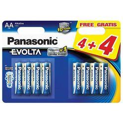 Panasonic Evolta Alkáli Elem Ceruza AA (LR6EGE/44BP) B4+4