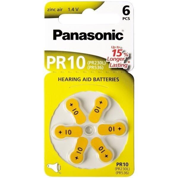 Panasonic Hallókészülék Elem PR10 B6