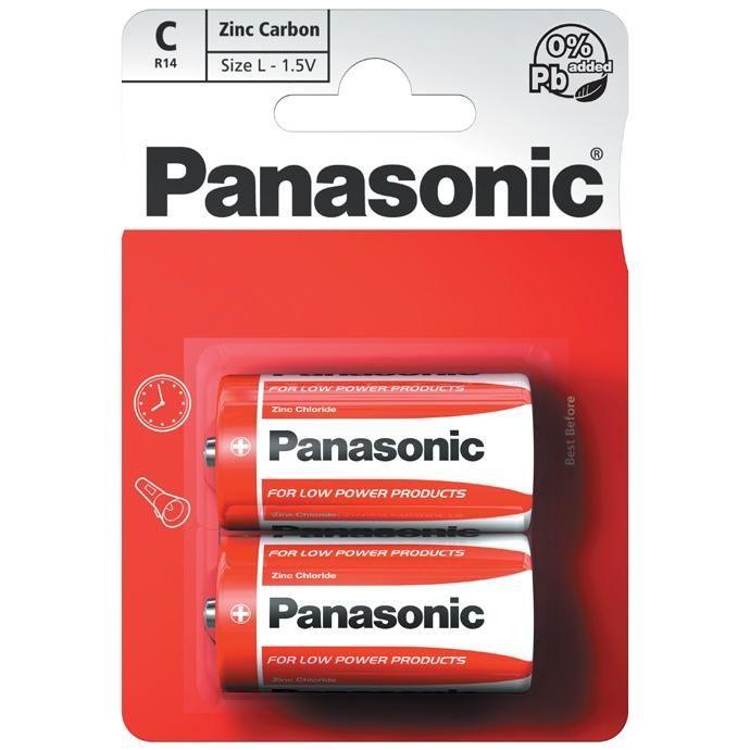 Panasonic Zinc Féltartós Baby Elem C (R14RZ/2BP) B2