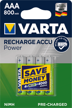 VARTA Akkumulátor R2U Mikró 800mAh AAA B4