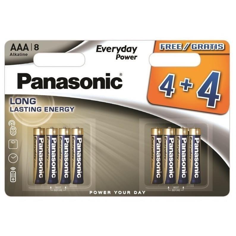 Panasonic Everyday Power Alkáli Mikro Elem AAA B4+4