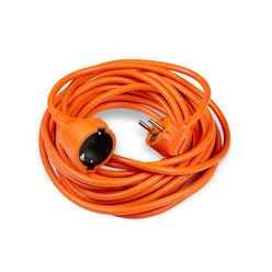 Technik Hosszabbító 1 utas 10m kábellel 1,5mm2 (narancs színű)