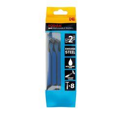 Kodak Eldobható Borotva MAX 2 Aloe Vera 2 Pengés Kék (8 darab/csomag)